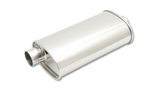 "STREETPOWER Oval Muffler, 2.5"" inlet/outlet (Offset-Center)"