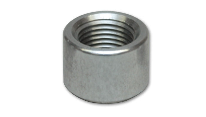 "Female - 10AN Aluminum Weld Bung (7/8"" - 14 Thread, 1-1/8"" Flange OD)"