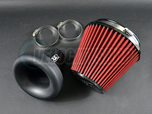 Blox 3 Inch Velocity Stack Composite w/ Air Filter, Silicone Coupler