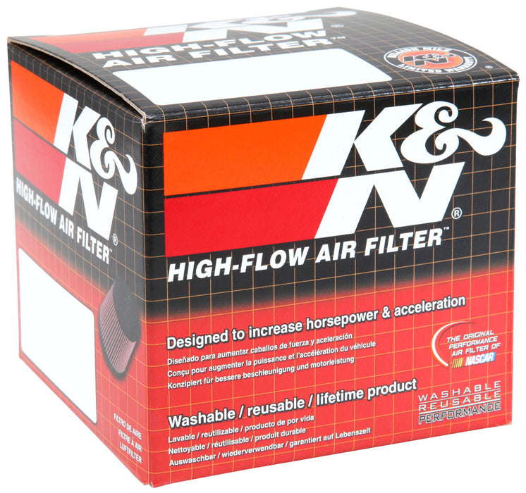 K&N Filter Universal Rubber Filter 2 inch Flange 3 1/8 inch Base, 2 inch Top, 3 inch Height