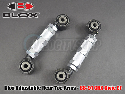 Blox Adjustable Rear Toe Arms Kit 88-91 CRX Civic EF