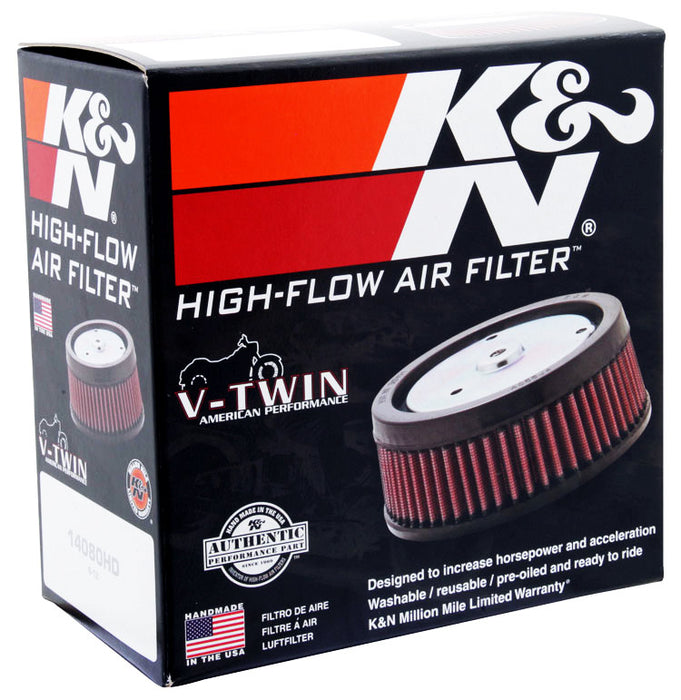 "K&N Replacement Air Filter 5.5"" Top OD x 6"" Base OD x 2.313"" H for Harley Davidson"