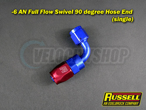 6AN Blue Red Hose End