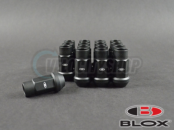Blox Street Series Forged Lug Nuts 12x1.5mm Flat Black 16-pcs