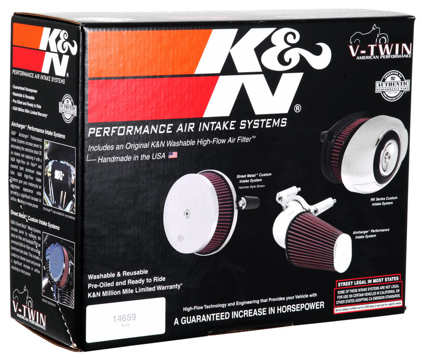 K&N for 07-10 Harley Davidson XL Aircharger Performance Intake
