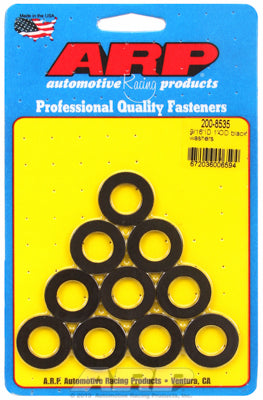 200-8535 | ARP 9/16in ID 1.00in OD Black Washers (Pack of 10)