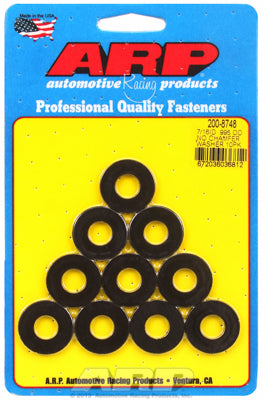 200-8748 | ARP 7/16 ID 1in OD Black Washers (10 pack)