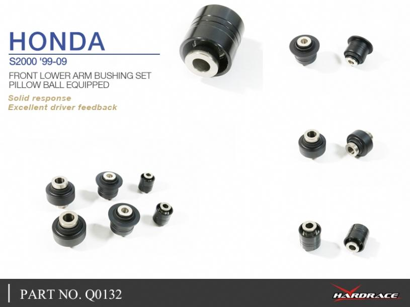HONDA S2000 '99-09 FRONT LOWER ARM BUSHING SET (PILLOW BALL) - 6PCS/SET