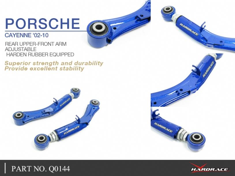 PORSCHE CAYENNE '02-10 REAR UPPER-FRONT ARM - ADJUSTABLE (HARDEN RUBBER) - 2PCS/SET