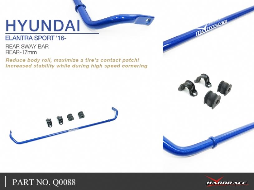 HYUNDAI ELANTRA SPORT '16- REAR SWAY BAR, 17MM - 5PCS/SET