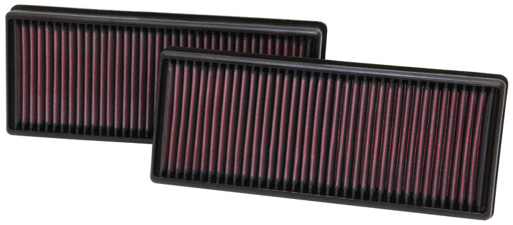 "K&N Replacement Air Filter 12.563"" O/S Length x 5.25"" O/S Width x 1.625"" H (Inc 2 Filters)"