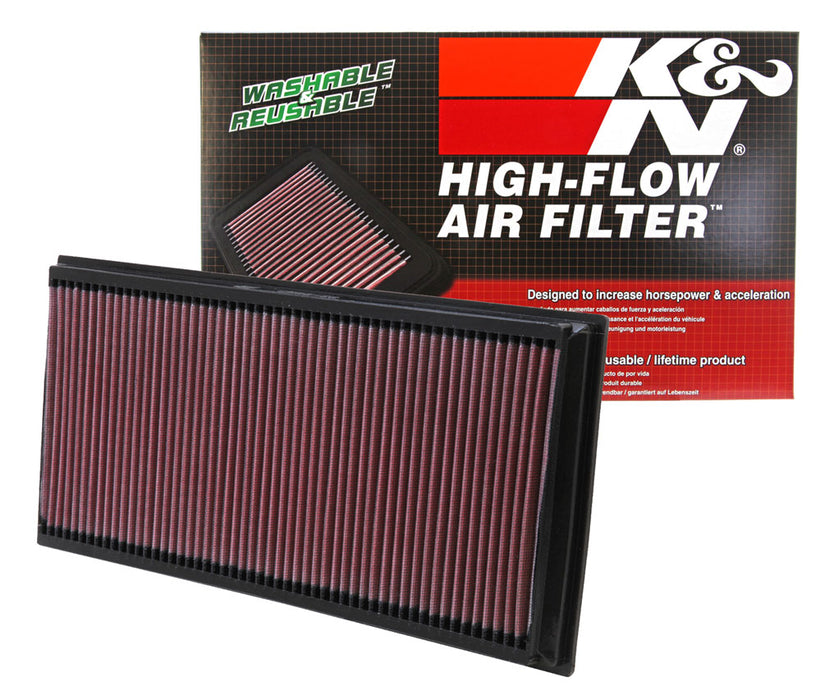 K&N for 06-09 L.R. Range Rover / 02-10 VW Touareg / 02-09 Porsche Cayenne Drop In Air Filter