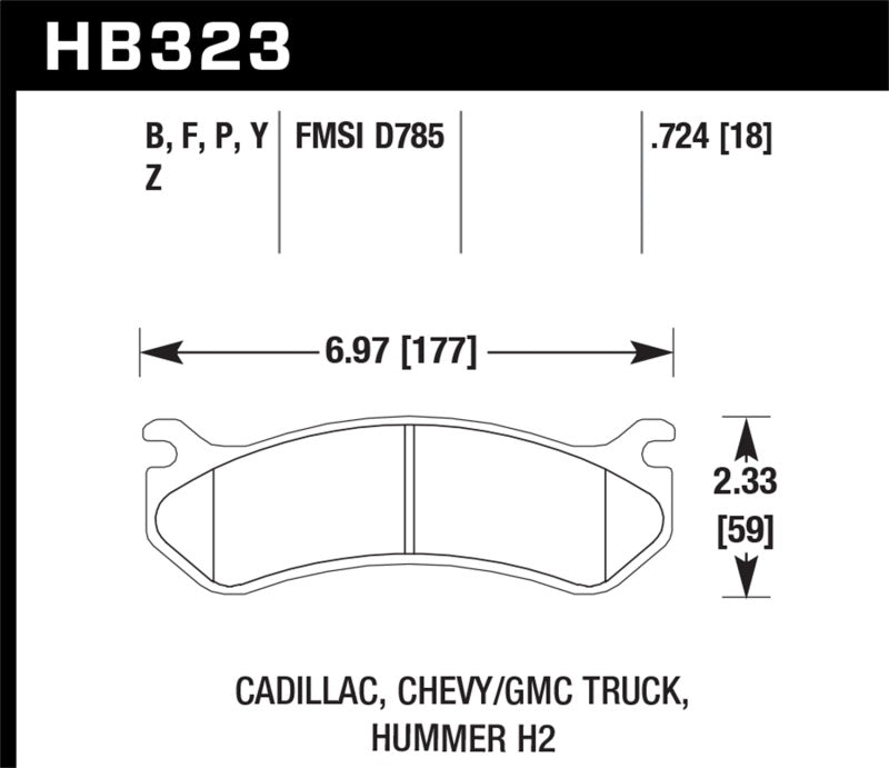 Hawk Performance Super Duty Brake Pad Sets HB323P.724