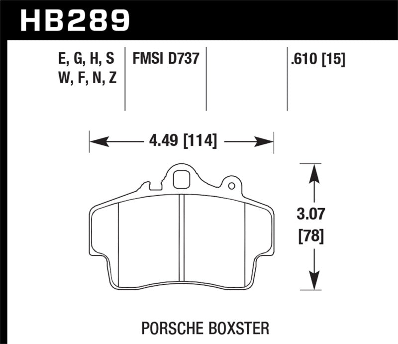 Hawk Performance HPS Brake Pad Sets HB289F.610