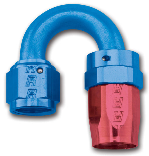 613500 | FULL FLOW SWIVEL TIGHT RADIUS HOSE END 180 #6 ANODIZED