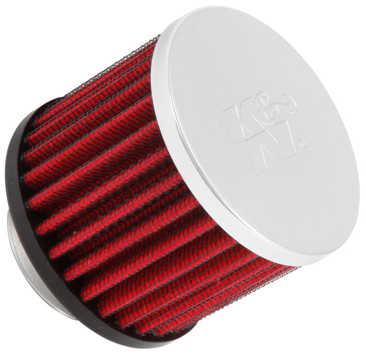 K&N 1.375 inch ID 3 inch OD 2.5 inch H Clamp On Crankcase Vent Filter