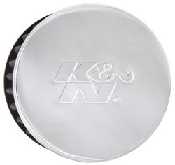 "K&N 1.5"" Flange ID x 3"" OD x 2.5"" H Chrome Finish Rubber Base Crankcase Vent Filter"