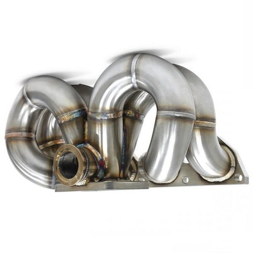 Blox EXHAUST HEADERS TURBO MANIFOLD RAMHORN Turbo Manifold; Honda B-Series, T304 - Ramhorn