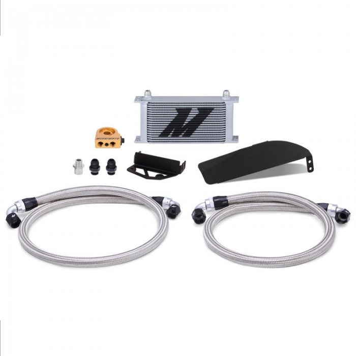 Mishimoto Direct Fit Oil Cooler Kit for 2017-2020 Civic Type R FK8 - Silver | MMOC-CTR-17TSL