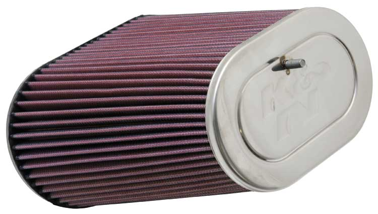 "K&N Universal Air Filter 3.125"" Flange ID x 5"" Base O/S Width x 4"" Top O/S Width x 9"" H"