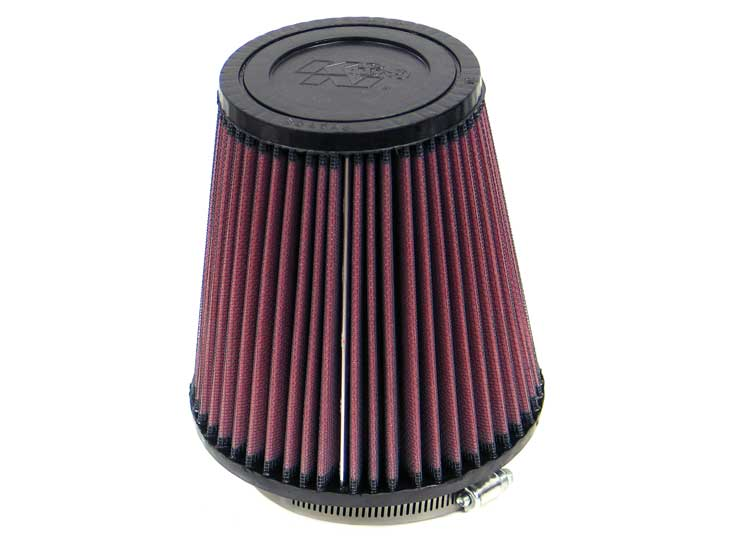 "K&N Round Tapered Universal Air Filter 3.5"" Flange ID / 5.75"" Base OD / 3.75"" Top OD / 6"" H"