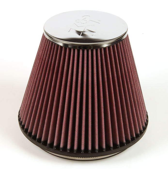 "K&N Round Tapered Universal Air Filter 6"" Flange ID x 7.5"" Base OD x 4.5"" Top OD x 6"" H"