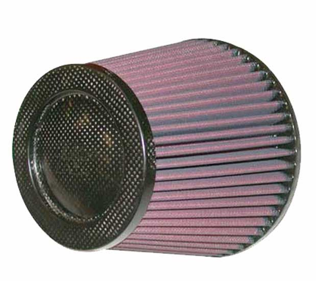 K&N Cone Filter 5in ID 6.5in base 4.5in top 5.625in height carbon fiber look