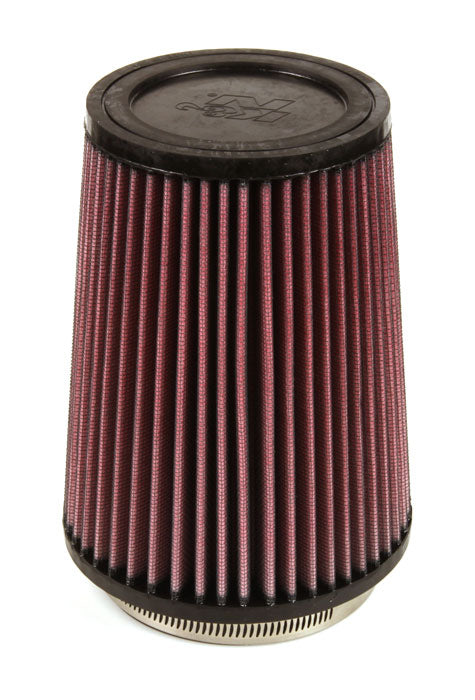 K&N Filter Universal Rubber Filter 4 inch Flange 5 3/8 inch Base 4 3/8 inch Top 7 inch Height