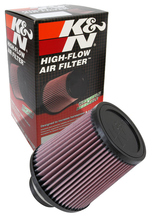 K&N Filter Universal Rubber Filter 2 3/4 inch Flange 6 inch Base 5 inch Top 6 1/2 inch Height