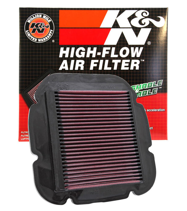 K&N for 02-10 Suzuki DL 1000 V-Strom/04-12 DL650 V-Strom / 04-05 Kawasaki KLV1000 Replacement Air Filter