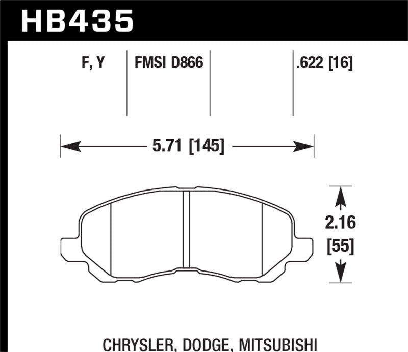 Hawk Performance HPS Brake Pad Sets HB435F.622