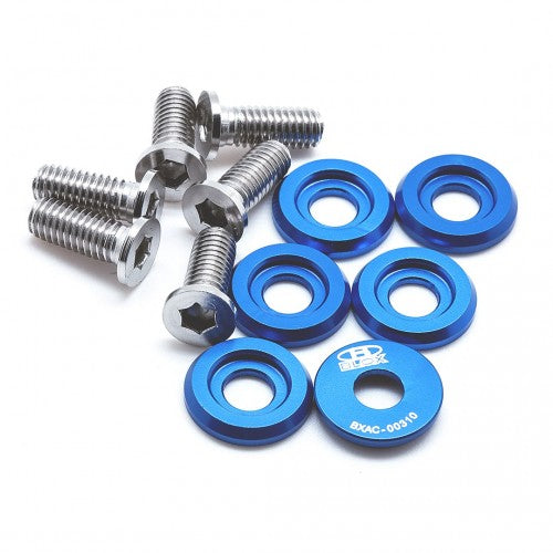 Blox BILLET WASHERS FENDER WASHERS SMALL Fender Washers Kit, M6 - Small diameter Blue