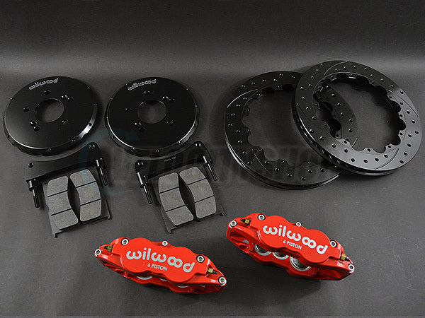 Wilwood Forged Narrow Superlite 6R Front Big Brake Kit w/ Lines 06-11 Civic Si
