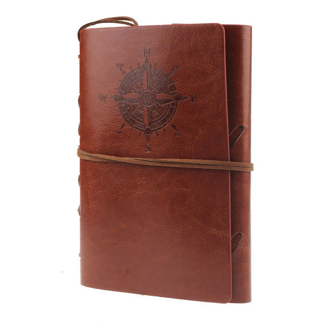 Spiral Leather Fountain Pen NoteBook