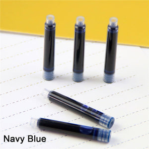 5 PCS Disposable Blue Black Red Fountain Pen Ink Cartridge Refills
