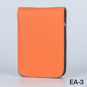 Fountain Roller Pen Case Holder Orange PU Leather Case for 12 Pens