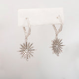 14k White Gold  0.9 ct Diamond Starburst Earrings - Glad Jewelry