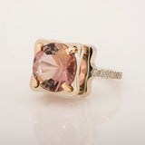 14k Rose and Yellow Gold 10.0 ct Ametrine and 0.25 ct Diamond Ring - Glad Jewelry