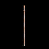 18k Rose Gold 0.6 ct VS1 Diamond Vertical Drop  Bar Necklace Pendant - Glad Jewelry