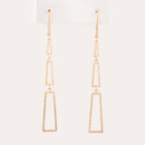 14k Yellow Gold 0.6 ct Diamond Dangle Earrings - Glad Jewelry