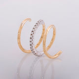 18k Yellow Gold  0.36 ct Diamond Spiral Ring - Glad Jewelry