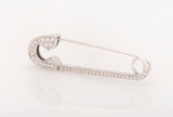 14k White Gold 0.3 ct Diamond Safety Pin Brooch - Glad Jewelry