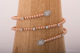 18k Rose Gold 0.94 ct Diamond 2 Rows Wrap Around Bracelet - Glad Jewelry