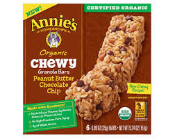 Annie's Homegrown Chewy Peanut Butter and Chocolate Chip Granola Bar