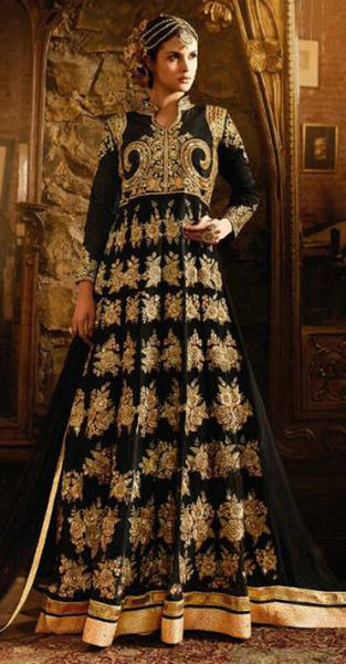 Ideal Pure Georgette Anarkali Suit with heavy embriodery