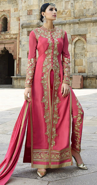 Pink and Gold Anarkali
