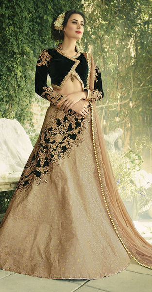 Black and beige designer Lehenga