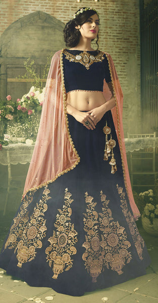 Black and gold  designer Lehenga