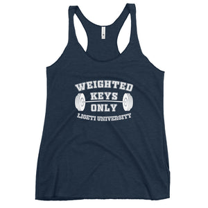 Weighted Keys Only - Women's Racerback Tank (Customizable)
