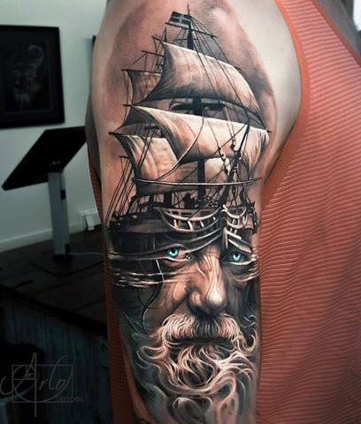 outer arm tattoo
